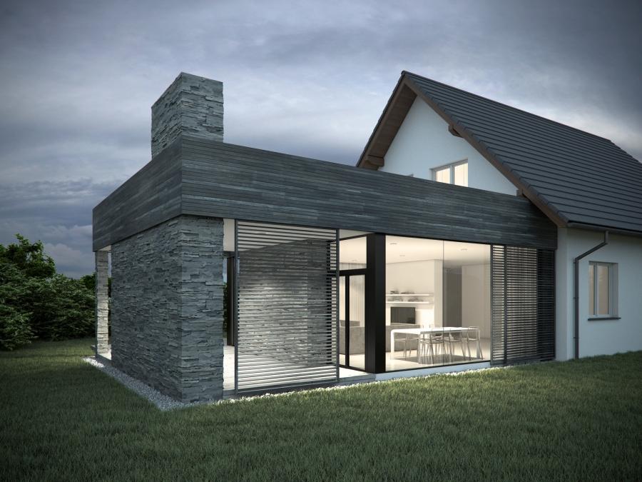 Projekt rozbudowy tradycyjnego domku. Nowoczesny design Racibórz