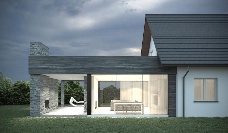 Nowoczesna rozbudowa domu dmdesign pl for P o style architecture