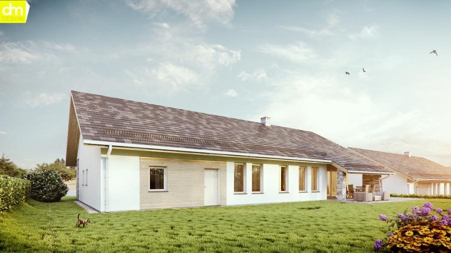 Nowoczesny parterowy dom wiejski