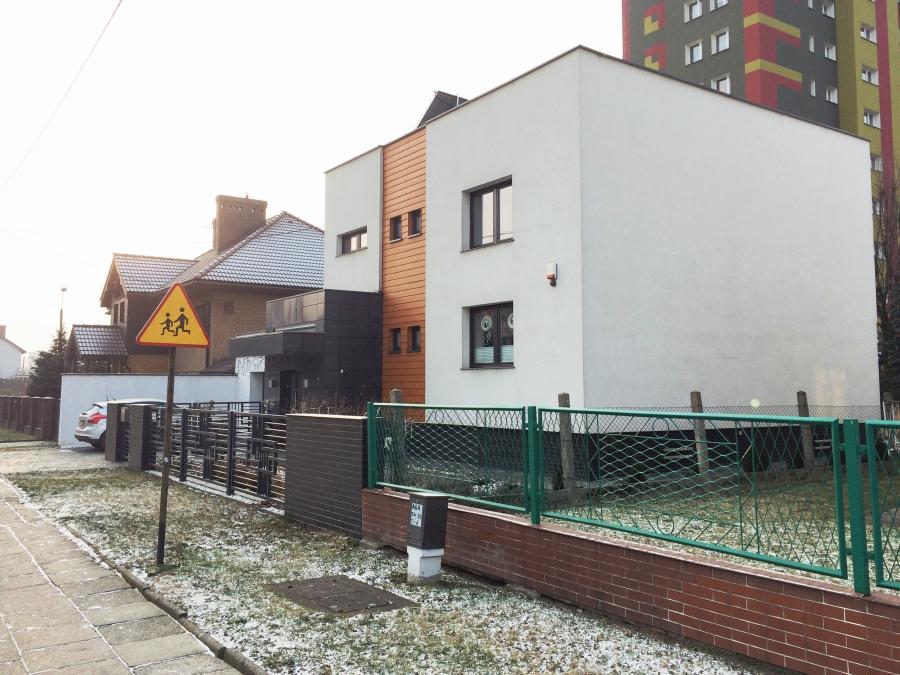 Projekt przebudowy kostki. Konkurs Najładniejsza Elewacja  w Raciborzu. Dom ul. Elżbiety.