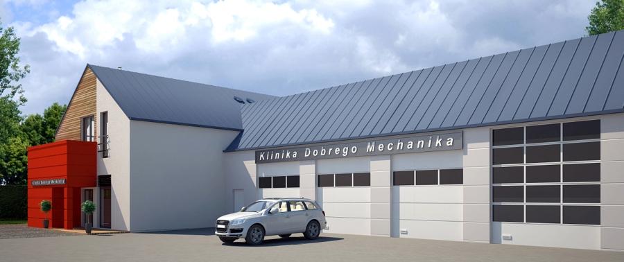 Projekt budowy stacji obsługi pojazdów Klinika Dobrego Mechanika - Wodzisław Śląsk